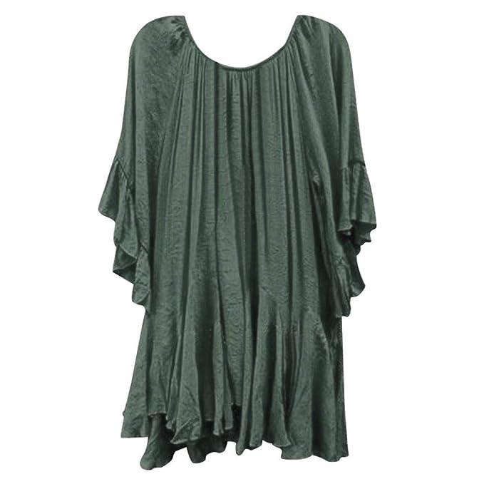 Camisas Elegantes Moda Blusas Mujer Verano Color Sólido Manga Corta Fiesta Estilo Cuello Redondo Blusas Superiores