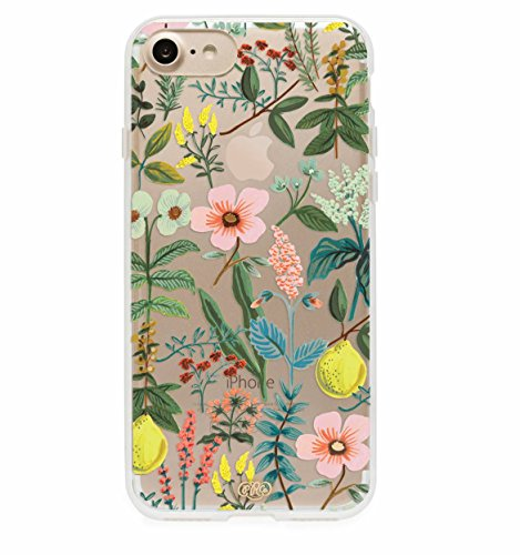 Price comparison product image Rifle Paper Co iPhone 7 Hard Case Herb Garden Everyday Protective Gold Dot Cover