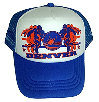 Toddler Kid's Denver Football Snapback Mesh Trucker Hat Cap