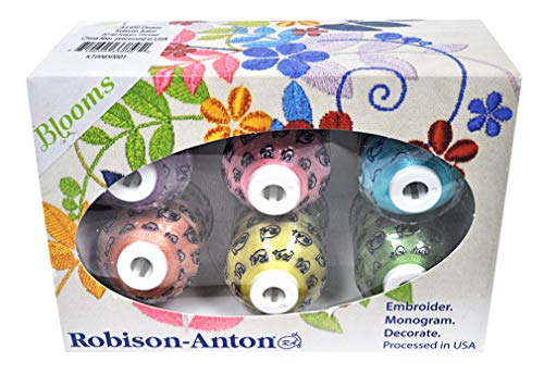 Robison-Anton Rayon Mini King 6 Spool Gift Pack - Blooms