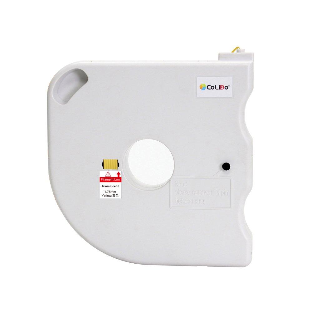 500g CoLiDo 3D Printer Filament PLA 1.75 mm Spool Translucent Yellow Print Rite LFD035YQ7J