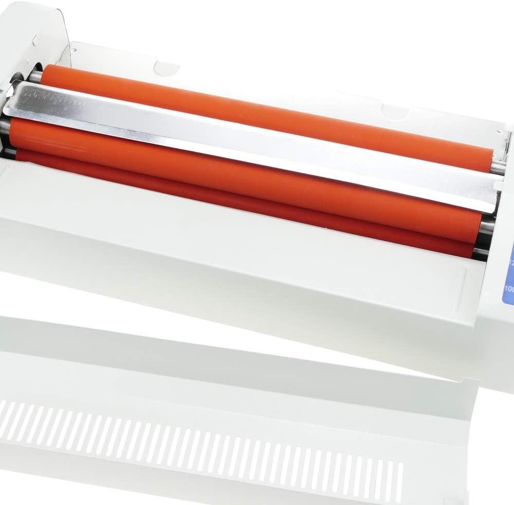 rotolo plastificatrice a rullo Plastificatrice da 13 Pro Steel Thermal plastificatrice Hot/&Cold pellicola fotografica A4 con regolazione della temperatura Office Hot Cold A3