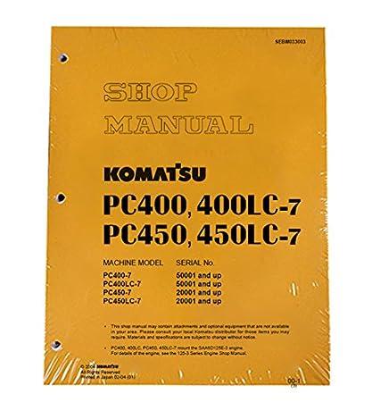 download komatsu pc400 7 pc400lc 7 excavator service shop manual