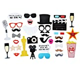 Step and Repeat LA Hollywood Photo Booth Props Party Pack with 20% Discount for a Custom Backdrop Included