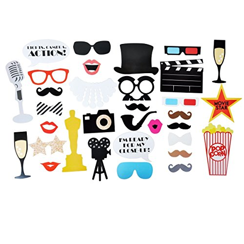 Step and Repeat LA Hollywood Photo Booth Props Party Pack with 20% Discount for a Custom Backdrop -
