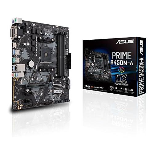 chollos oferta descuentos barato ASUS PRIME B450M A Placa base AMD AM4 mATX con conector Aura Sync RGB DDR4 3200 MHz M 2 HDMI 2 0b SATA 6 Gbps y USB 3 1 Gen 2 soporta Ryzen 3000