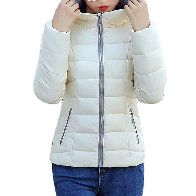 Linlink Mujeres Invierno cálido Abrigo sólido con Capucha Gruesa Chaqueta Delgada Caliente Abrigo
