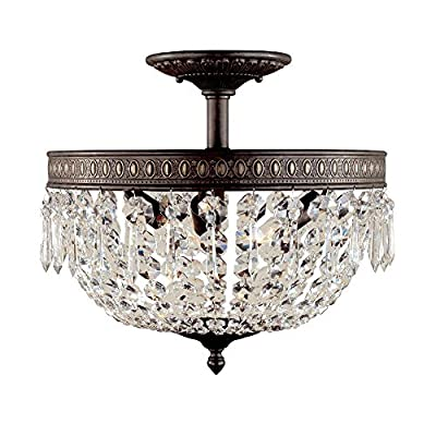 World Imports Lighting 2373-06 Bijoux 3-Light Flush Mount Fixture, Flemish
