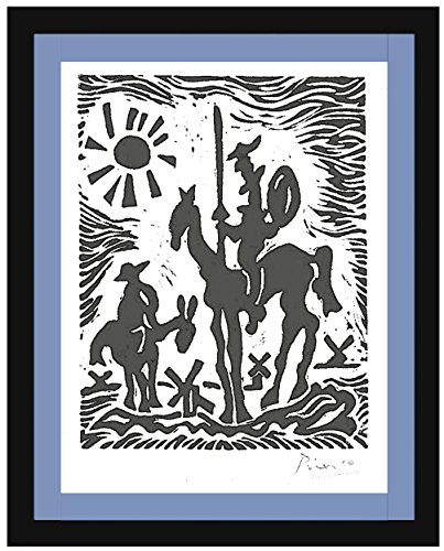 (Pablo Picasso Original Hand-Signed Limited Edition Linocut Print with COA,