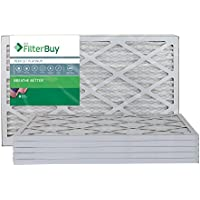 FilterBuy 16x25x1 MERV 13 Pleated AC Furnace Air Filter, (Pack of 6 Filters), 16x25x1 – Platinum