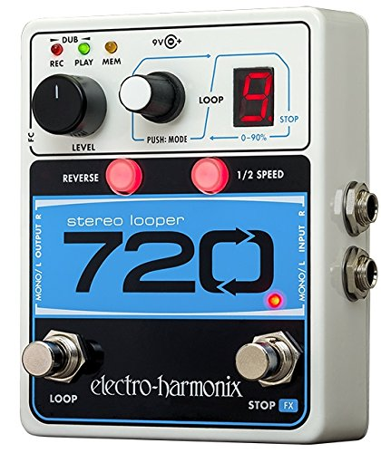 shop amazon com guitar loopers samplers electro harmonix 720 stereo looper pedal