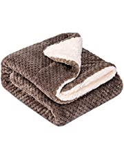 """Fuzzy Dog Blanket or Cat Blanket or Pet Blanket, Warm and Soft, Plush Fleece Receiving Blankets for Dog Bed and Cat Bed, Couch, Sofa, Travel and Outdoor, Camping (Blanket (32"""" x 40""""), DW-Eagle Grey)"""