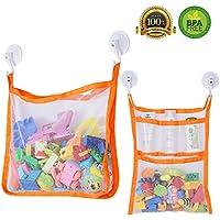 SUNDOKI Bath Toy Organizer, Bath Toy Holder Storage Bags...