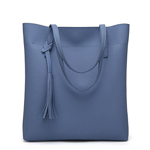 SDINAZ bolso de hombro para las mujeres grandes bolsos de mano bolsos de marca satchel bolsos Azul
