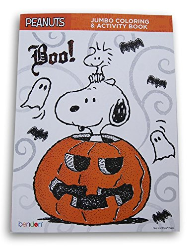 Bendon Publishing International Halloween Peanuts Snoopy Boo Coloring and Activity Book - 64 Pages -