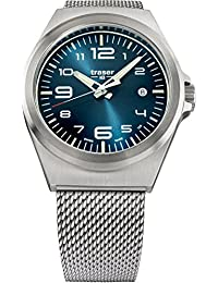 traser P59 Essential M Blue Dial Milanese Stainless Steel Band Men's Watch 108205