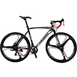 EUROBIKE XC550 21 Speed 54 Cm Frame Road Bike 700C 3-Spoke Wheels Dual Disc Brake Road Bicycle Black White Review