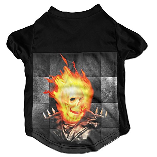 [Ghost Rider Amazing Dog Clothes Sweaters Shirt Hoodie For Puppy] (Punisher Costumes For Sale)