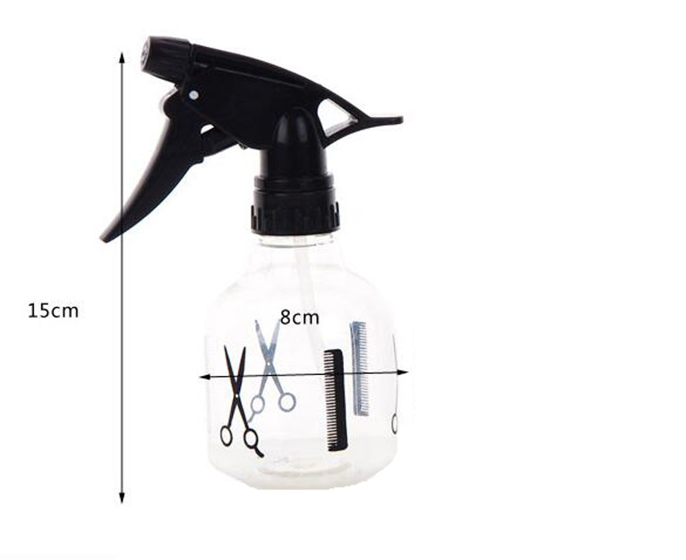 1PC Empty Clear Plastic Spray Bottles Barber Shop Special Hair Spray Bottle Spray Bottle Fine Fog Plastic Makeup Small Spray Bottle Refillable Containers 250mL For Essential Oils, Cleaning Products, Aromatherapy, Misting Plants, or Cooking erioctry