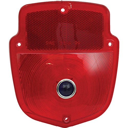 MACs Auto Parts 48-31709 Pickup Truck Tail Light Lens - Shield Type - Red GlassLens With Blue Dot Lens - Flareside Pickup
