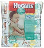 #10: Huggies One & Done Baby Wipes, Soft Pack, Cucumber & Green Tea, 3 Packs of 56 Count, 168 Total Wipes