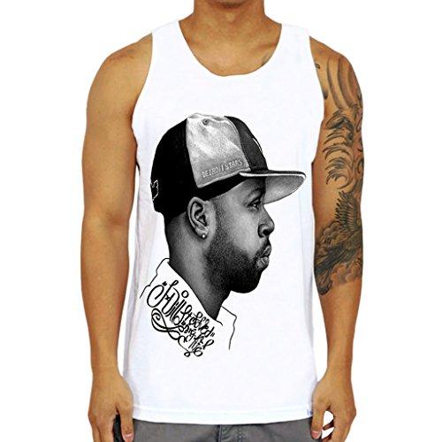 Mazumi8 J Dilla Hat Rap Hiphop Tank Top Size XL White by mazumi8
