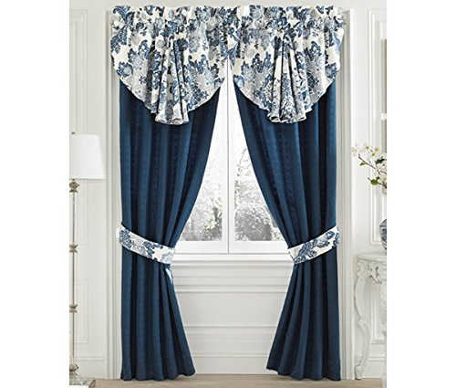 Croscill Diana 4-Pc. Pole Top Window Drapery Set, Blue, 82