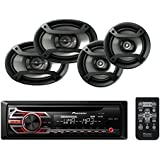Pioneer DEH-150MP Single Din CD Player with one pair of TS-165P 6.5 and one pair of TS-695P 6x9 Car Speakers