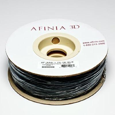 Afinia Value-Line Black ABS Filament for 3D Printers - Part Number AF-ABS-1.75-1K-BLK