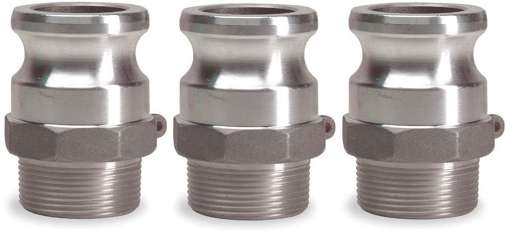 JGB Enterprises 030-06032-832CI Aluminum Type F Cam and Groove Fitting 2 Male Adapter x 2 Male NPT 2 Male Adapter x 2 Male NPT
