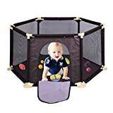 Homgrace PlaySafe Playard Baby Safety Crawling Guardrail Surround 6-Panel for Toddlers Indoor and Outdoor (Coffee) Review
