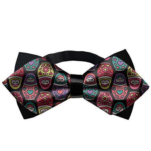 YEAHSPACE Mens Silk Bowtie Gift Russian Dolls Bow Ties For Teen Boys (Brooks Silk Tie Brothers)