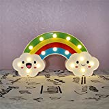 CSKB LED Rainbow Colorful Night Light Marquee Sign for Bedside,Perfect Kids Room Lighting - Rroom Decor Light for Kids Baby Home Decorations