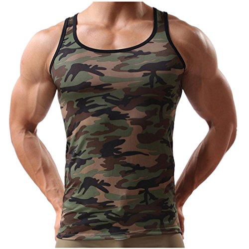 Men Vest 2017 New Hot Sale Fashion Cool Autumn Winter Casual Military Sleeveless Men's Camouflage Shirt Sportswear Tank Top by Neartime (M, Camouflage) (Tights Sleeveless)