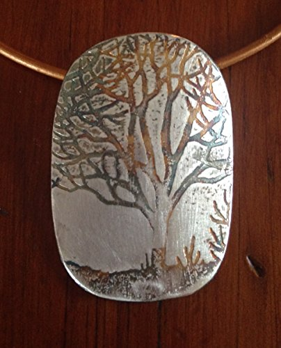 Sterling Hand Etch Maple Tree ()