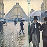 Posters: Gustave Caillebotte Poster Art Print - Paris Street, Rainy Day, 1877 (28 x 28 inches)