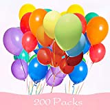 Best Counts With Balloon Pumps - 200 Pieces Assorted Colored Balloons Bulk ,12 Inches Review