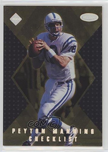 Peyton Manning (Football Card) 1998 Collector's Edge Masters - Checklists - Gold #CK1 - 1998 Peyton Manning Edge