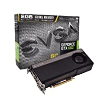 EVGA GeForce GTX 660 SUPERCLOCKED 2048MB GDDR5 DVI Mini-HDMI DP Graphics Card 02G-P4-2662-KR