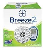 Bayer Breeze2 Blood Glucose Test Strips, 5 Discs (50 Test Strips)