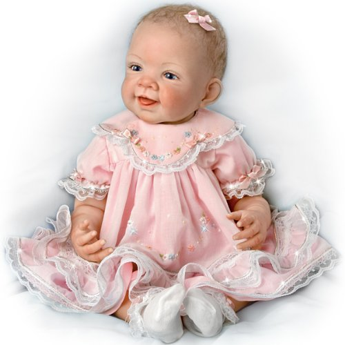 Ashton Drake Pretty In Pink Realistic Baby Doll 21 , 21 by Ashton Drake by The Ashton-Drake Galleries