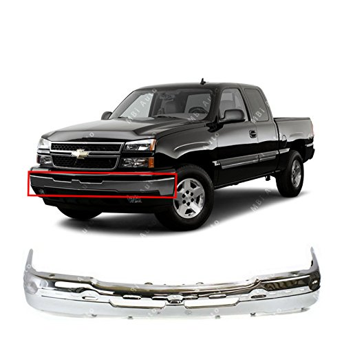 MBI AUTO - Chrome Steel, Front Bumper Face Bar for 2003-2006 Chevy Avalanche & Silverado 1500/2500 & 2007 Silverado Classic Pickup, GM1002416 (Chevrolet 2007 Classic Pickup Silverado)