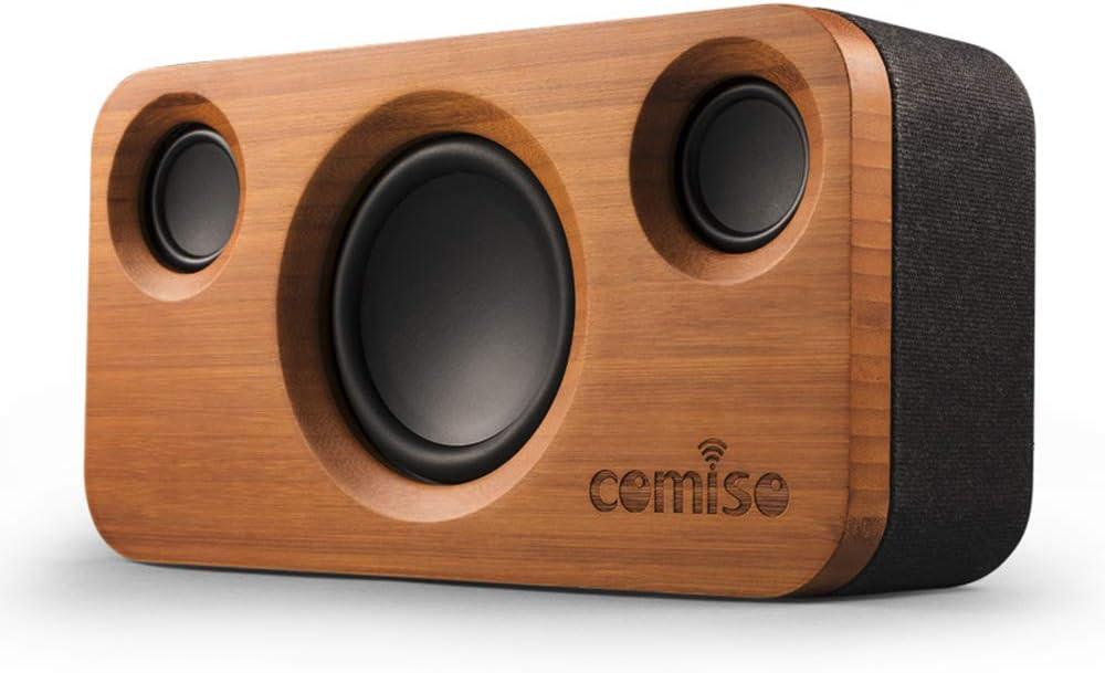 COMISO Altavoz Bluetooth Estéreos Premium 25W con Radiador Pasivo, Altavoz inalámbrico Portátil Subwoofer, 3D Sonido Digital con 12 Horas de Emisión Continua Manos Libre- Negro