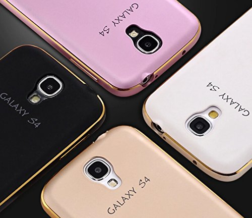 DEAR S4 Newest Luxury Ultra Thin Metal Protective Aluminum Frame Bumper Phone Cover Case + Hard Back Case for Samsung Galaxy S4 I9500 (Gold)