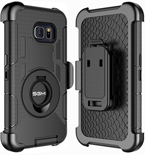 Note 5 Case, Galaxy Note 5 Holster case, SGM (TM) Hybrid Dual Layer Combo Armor Defender Protective Case With Kickstand + Belt Clip Holster For Samsung Galaxy Note 5 - Port New Mall New Jersey