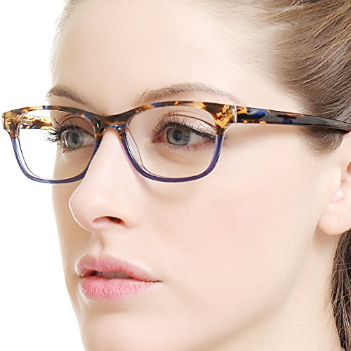 f76918d83a Amazon.com  OCCI CHIARI Rectangle Stylish Eyewear Frame Non-prescription  Eyeglasses With Clear Lenses Gifts for Women  Shoes