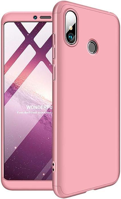 Aidinar Xiaomi Mi MAX 3 Funda, Bumper y Anti-Scratch, Estuche Rígido de 360 Grados Estuche Completo para Xiaomi Mi MAX 3 (Rosa): Amazon.es: Electrónica