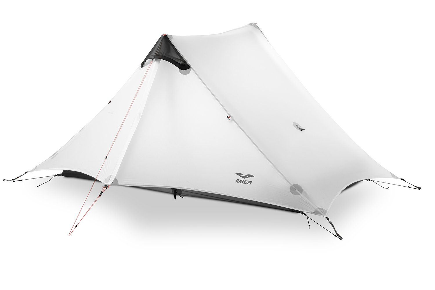MIER Ultralight Tent 3-Season Backpacking Tent for 1-Person or 2-Person Camping, Trekking, Kayaking, Climbing, Hiking (Trekking Pole is NOT Included), White, 2-Person by MIER
