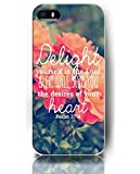 iPhone 5 5S Cases for Girls Cute Designs of Psalm 37:4 Delight Yourself in the Lord and He Will Give You The Desires Of Your Heart - Red Roses