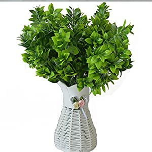 Lopkey Artificial Eucalyptus Leaves Green Plant Plastic Vase 67